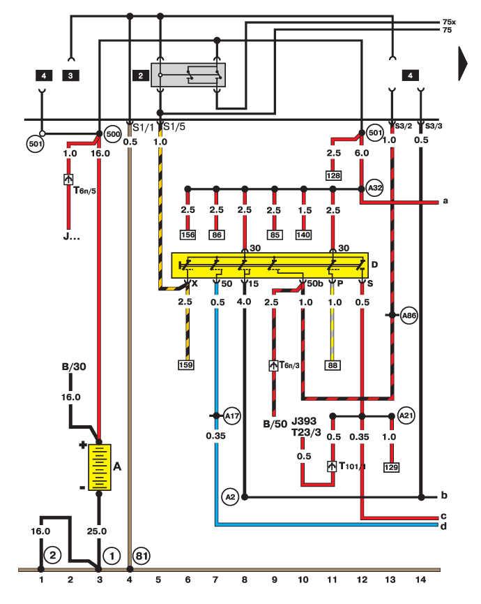 Vw passat схема электрооборудования 335