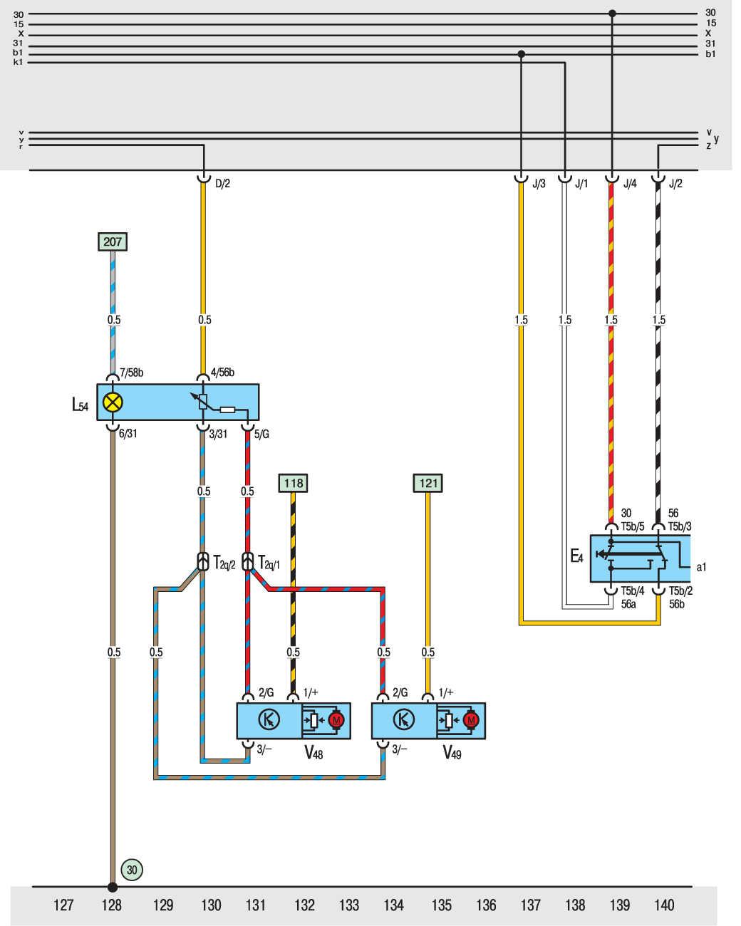 электросхемы фольксваген т4 вентилятор радиатора