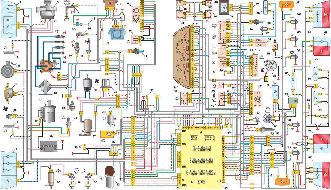 электрическая схема рециркуляции воздуха в опель
