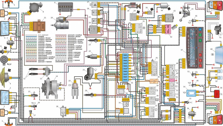 Схема электрики ваз 2105 фото 953