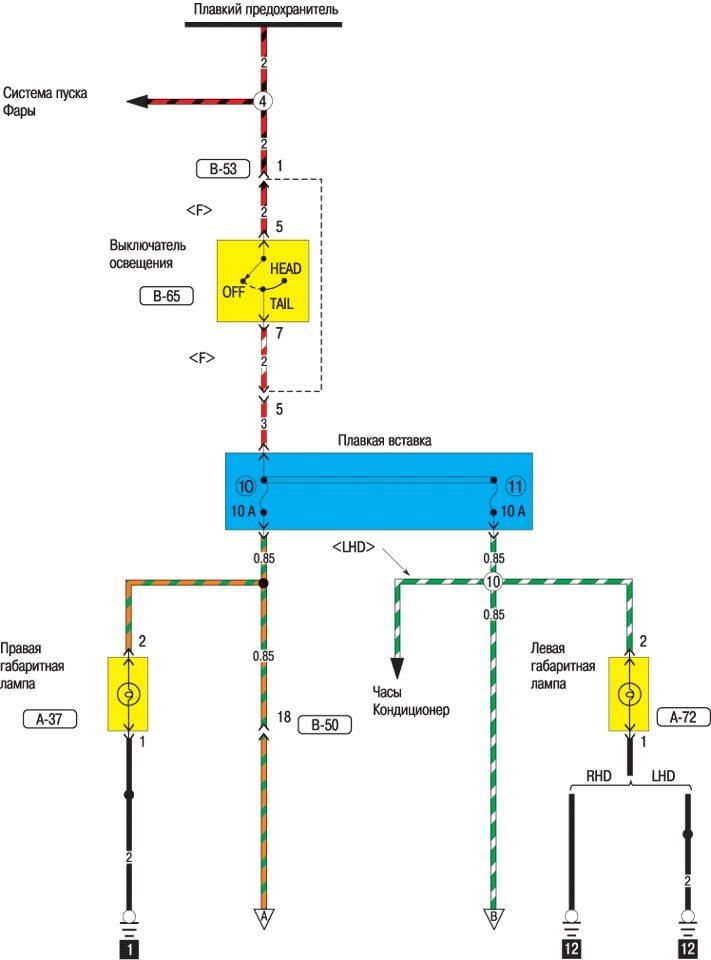 митсубиси каризма 1.8 gdi 1998 схема проводки