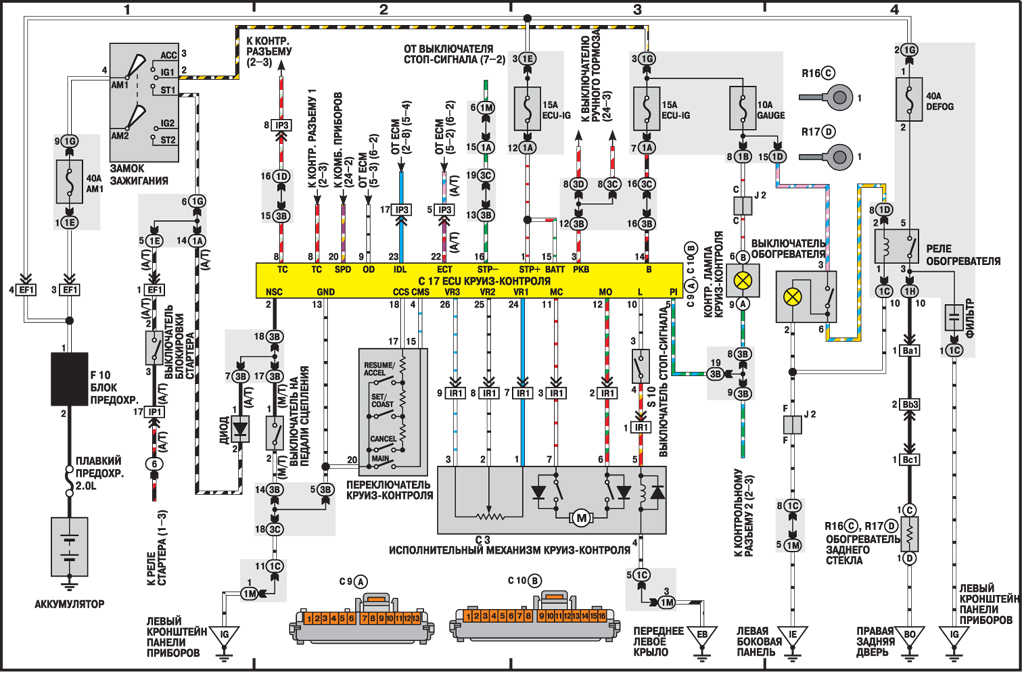схема проводки климат контроля ауди
