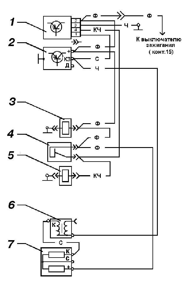 Схема электрическая электроклапана
