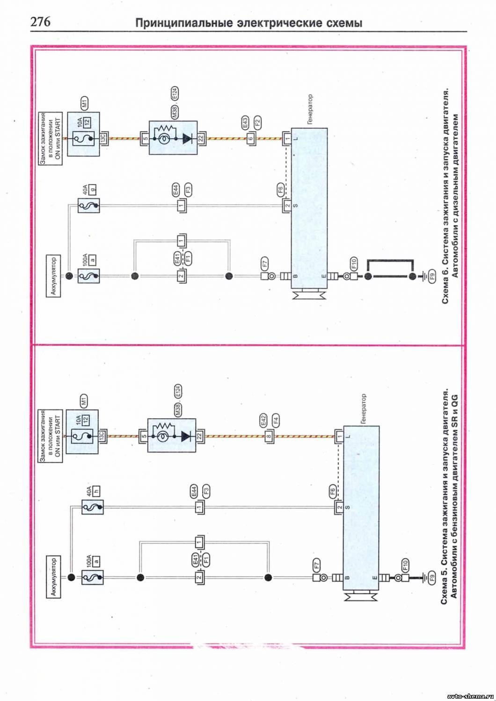 Схема вакуумных соединений ниссан