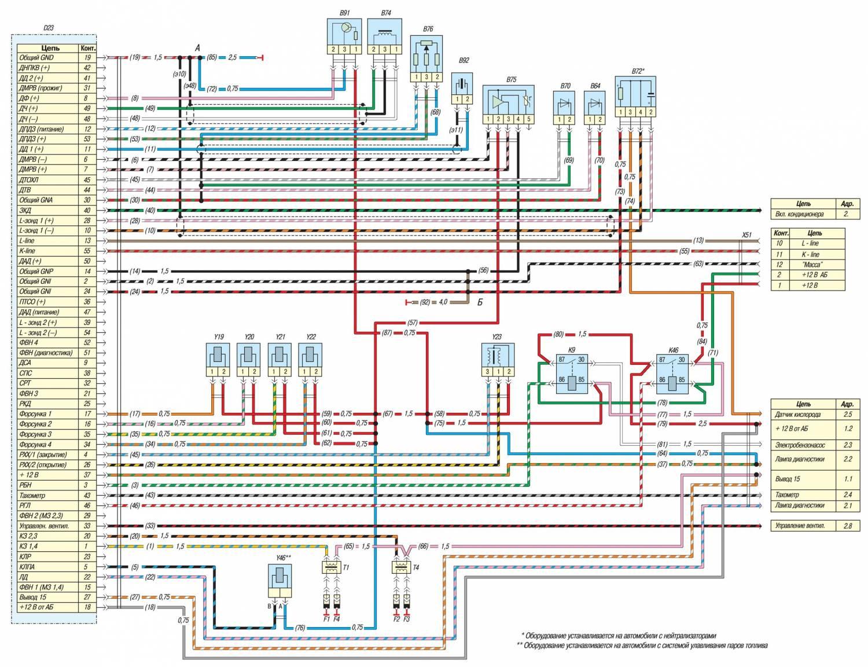 двигатель 406 карбюратор схема электрическая