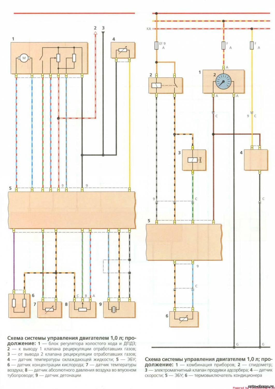 Схема матиз