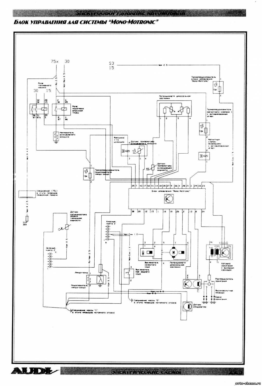 Схема электрооборудования audi 200 фото 175