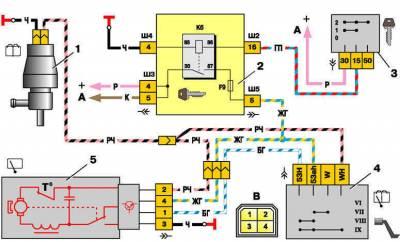 Электросхема отопителя ваз 2110