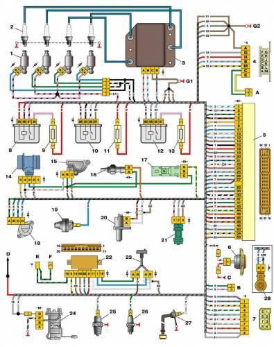 Схема электропроводки ваз 2110 инжектор 8 клапанов