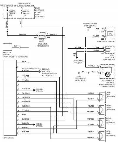 Электрическая схема митсубиси галант фото 190