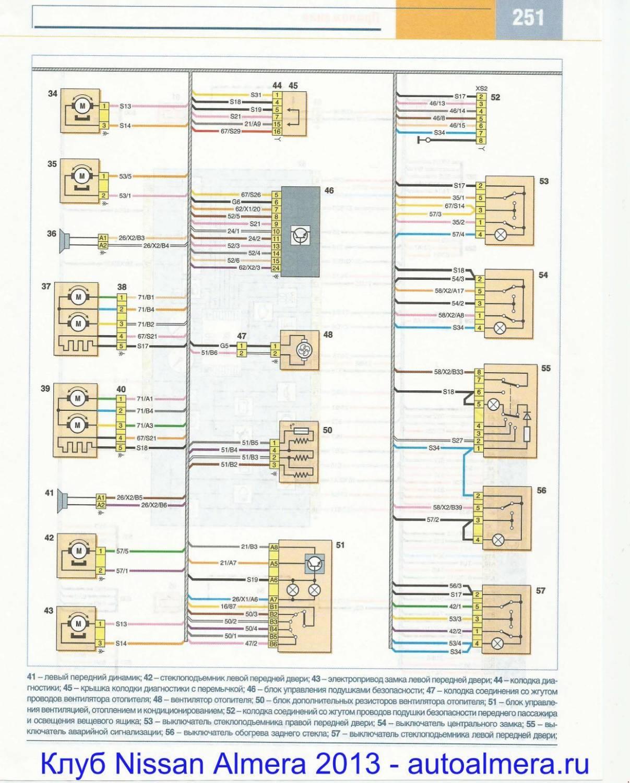 Схема электрооборудования ниссан альмера классик 2007