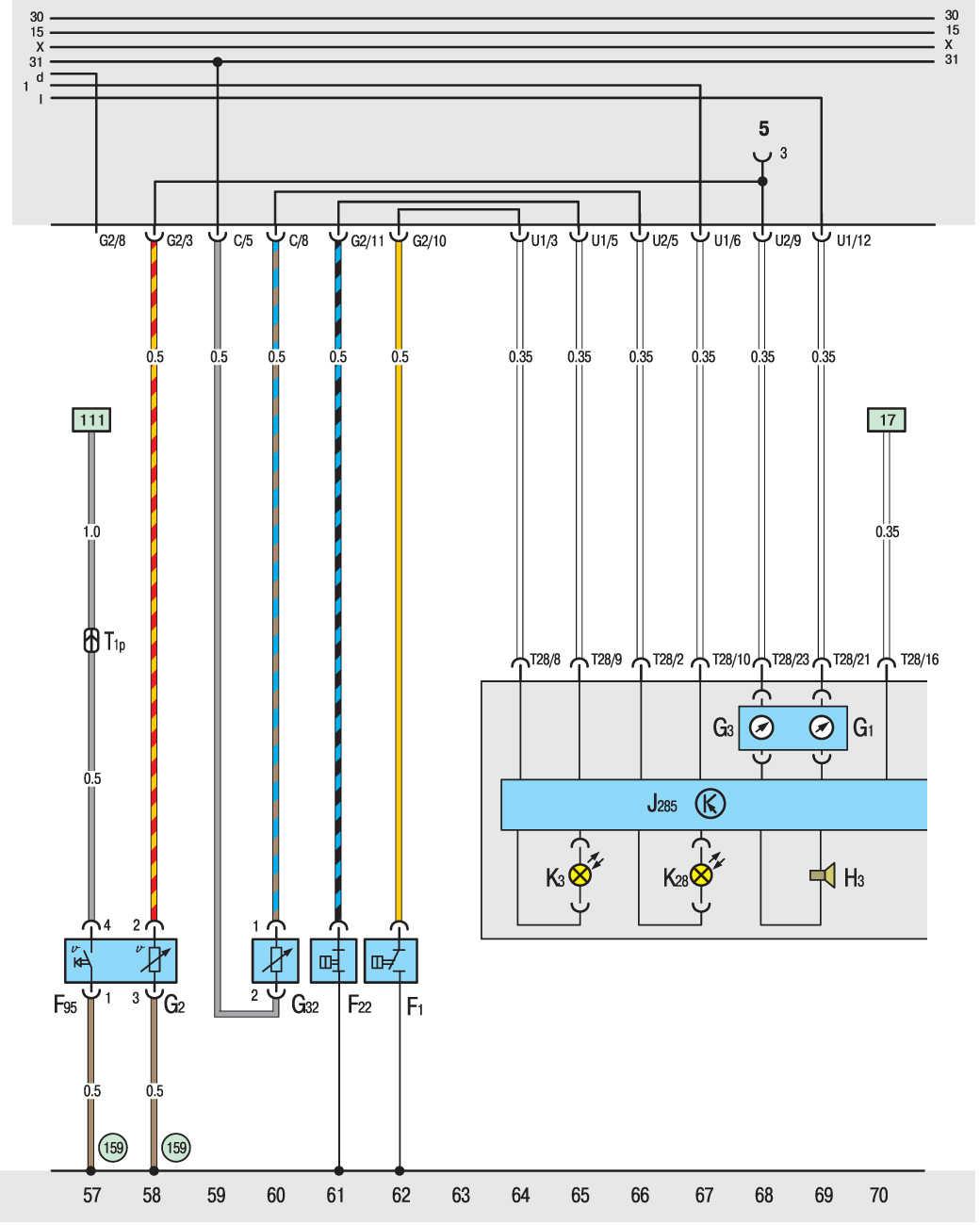 схема фольцваген транспортер