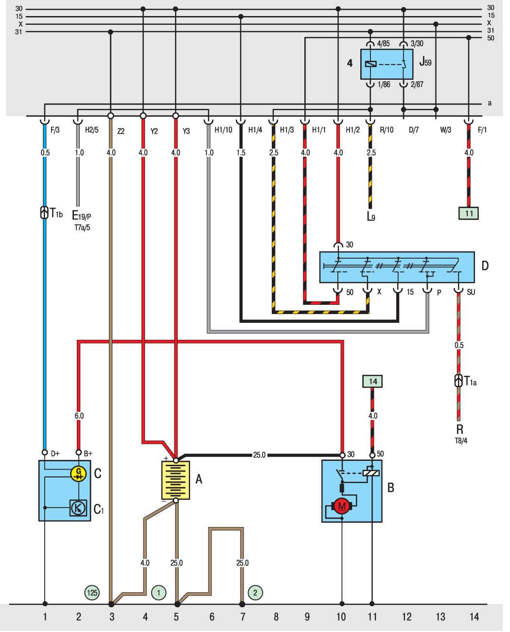 Электрическая схема фольксваген транспортер т4 кормовой конвейер это