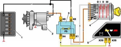 s07657722 - Схема подключения генератора москвич 2141