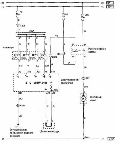 Схема автомобиля - Шевроле Авео