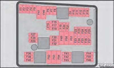 Описание предохранителей и реле в Шкода Суперб 1 го поколения   электросхема